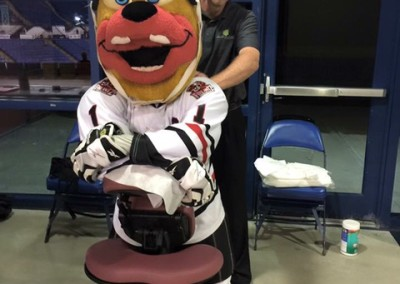 Mascots Need Massage Too!